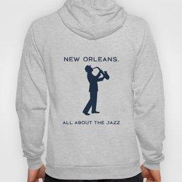 New Orleans Music Festival Jazz Saxophone Musician Design Hoody