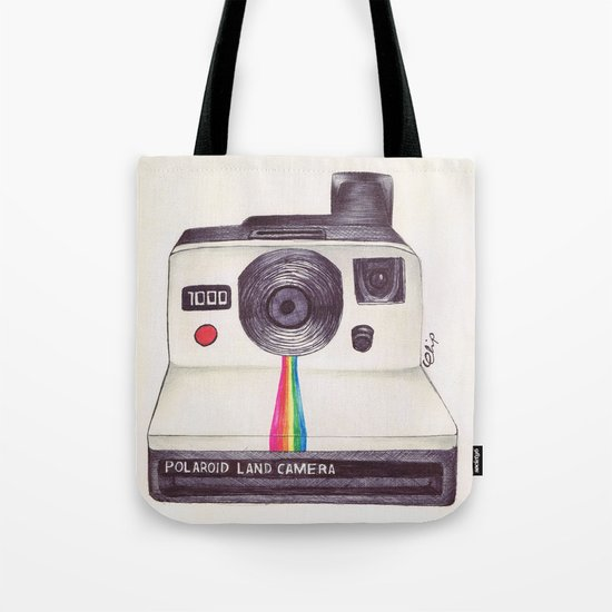 Ballpoint Pen Polaroid Tote Bag
