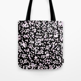 Inverted Black and White Randomness Tote Bag