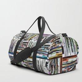 Square Heaven Strip Collage Duffle Bag