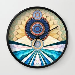 Allll the Way In Wall Clock