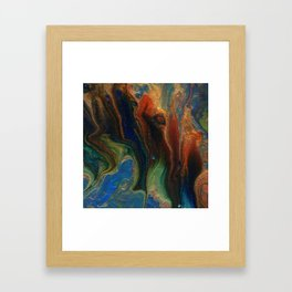 Earth Fire Lava Flow Cells Framed Art Print