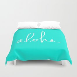 Aloha Tropical Turquoise Duvet Cover