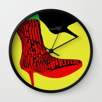 shoes Wall Clocks featuring Shoes by BUBUBABA