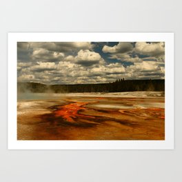 Hot And Colorful Thermal Area Art Print