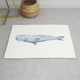 Sperm Whale Watercolor Rug