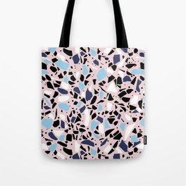 Terrazzo Spot Blues on Blush Tote Bag