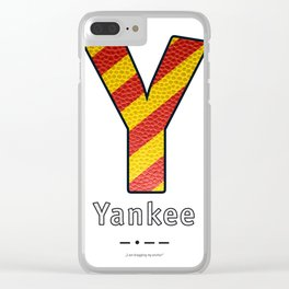 Yankee - Navy Code Clear iPhone Case