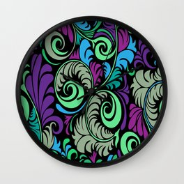 Floral Pattern - 1 Wall Clock