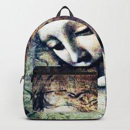 Leonardo Da Vinci Female Head Backpack