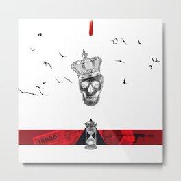 Time is King Metal Print