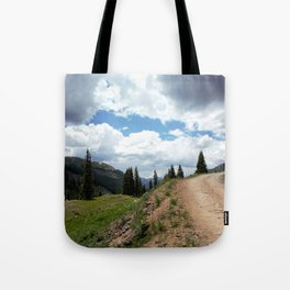 The Road of Life: Venture to Learn What's Around the Next Bend, and Prepare for Stormy Skies Tote Bag