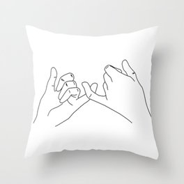Pinky Swear Throw Pillow