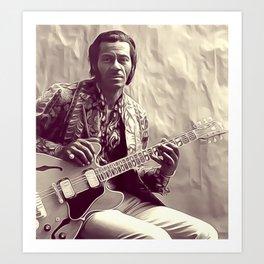 Chuck Berry, Music Legend Art Print