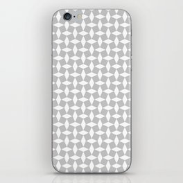 Patchwork Tile in Grey and White iPhone Skin