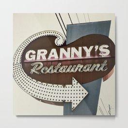 Granny's Restaurant Metal Print