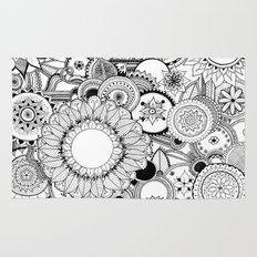 Floral Kaleidoscope  Rug