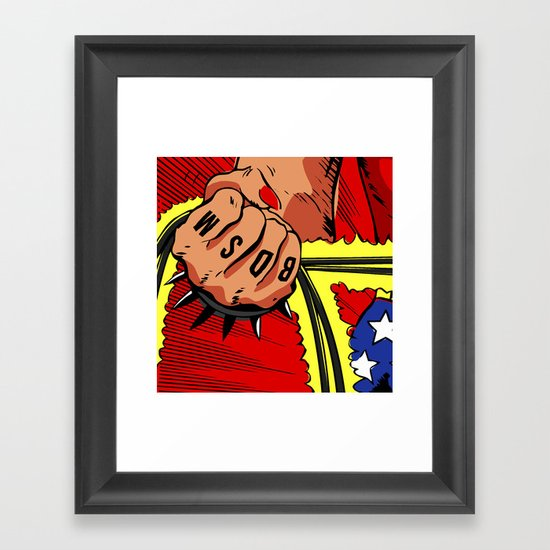 Spank Framed Art Print