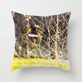 Nature finds the way inside... and outside... Everywhere! Throw Pillow