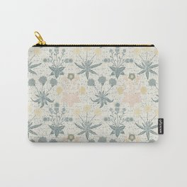 Vintage Floral & Plants Pattern Carry-All Pouch