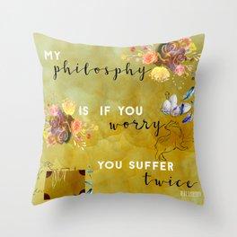 My philosophy Throw Pillow