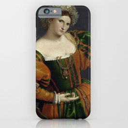 Lorenzo Lotto - Portrait of a Woman iPhone Case