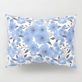 Blue flowers pattern 4 Pillow Sham