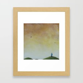 close and loud Framed Art Print