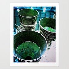 Space Travel (part b) Art Print