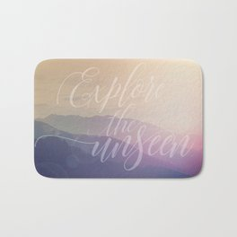 Motivational Typography And Scenic View Bath Mat