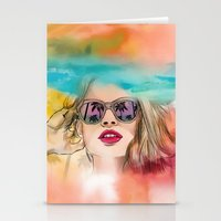coachella Stationery Cards featuring Palm Springs by Sara Eshak