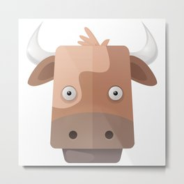 The Cow of Videos Manguis Metal Print