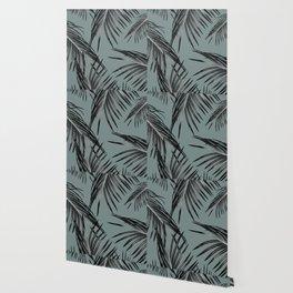 Black Palm Leaves Dream #4 #tropical #decor #art #society6 Wallpaper