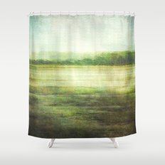 fishbourne marshes Shower Curtain