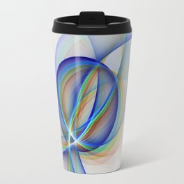 Colorful Design, Modern Fractal Art Travel Mug