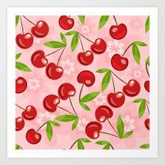 Cherrylicious Art Print