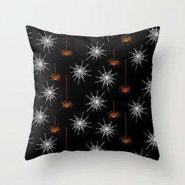 Halloween Spiders Throw Pillow