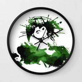 Double-barred Finch Ink Splash Wall Clock