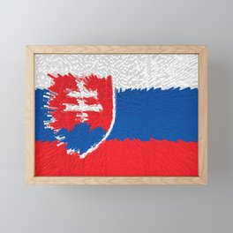 Extruded flag of Slovakia Framed Mini Art Print