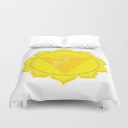 Manipura Chakra Solar Plexus chakra Yoga Duvet Cover