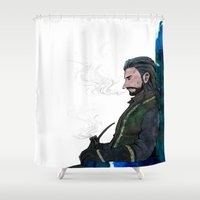 thorin Shower Curtains featuring Thorin by NON6