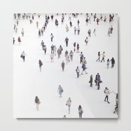 people in new york Metal Print