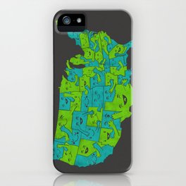 Hugging it Out Across America iPhone Case