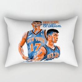 Jeremy Lin: New York, New York, Big City of Dreams. Rectangular Pillow