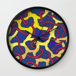 Abstract blue painting  Wall Clock