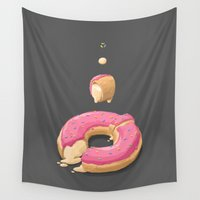 doughnut Wall Tapestries featuring Donut by Fightstacy