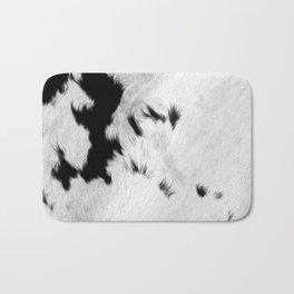 Cowhide Minimalistic Fur Texture Detail Bath Mat
