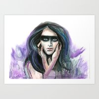 Masked In Violet Art Print
