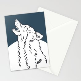 Pra Loup Howling Wolf Stationery Cards