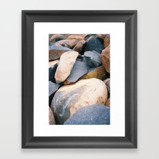 Rock pile from NSW/ACT border, Australian countryside Framed Art Print